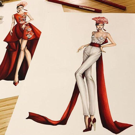 طراحی لباس با مارکر