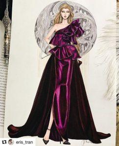 مداد رنگی در طراحی لباس
