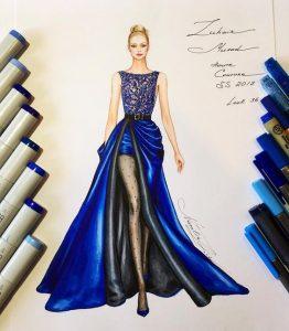 ساتن در طراحی لباس