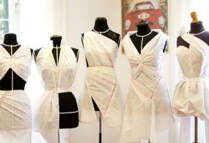 آموزش طراحی لباس روی مانکن