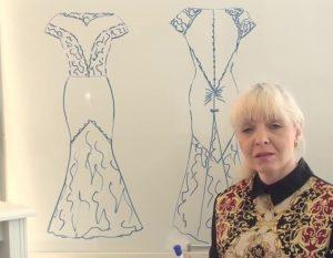 طراحی لباس روی اندام