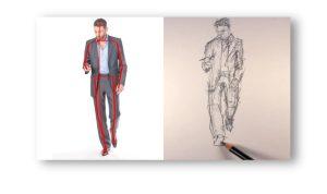 لباس مردانه را طراحی کنید