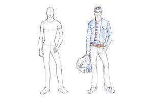 نکات طراحی فیگور در طراحی لباس