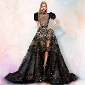 جدیدترین لباس شب2019