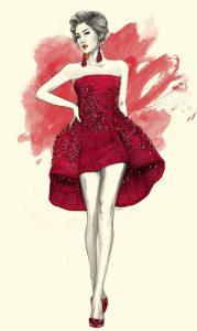 طراحی لباس شب کوتاه