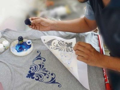 آموزش جالب چاپ ترافارد در طراحی لباس