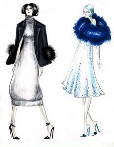 گواش در طراحی لباس