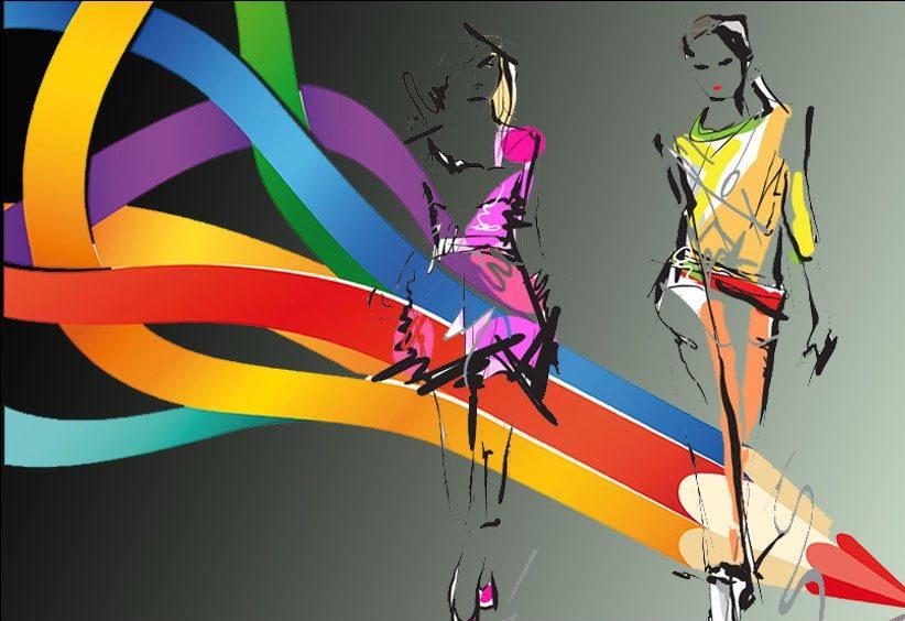 اصول رنگ آمیزی زیبا در طراحی لباس